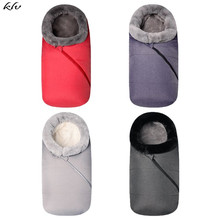 KLV Universal Baby Infant Warm Sleeping Bag Outdoor Wearable Stroller Blanket Cosy Cart Footmuff Cover