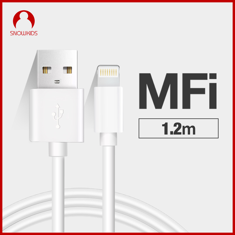 Snowkids MFi Cable para Lightning a USB Cable Data Sync Charger para iPhone 11 X 8 7 6 5 XR XsMax iPad iPod Upto iOS13
