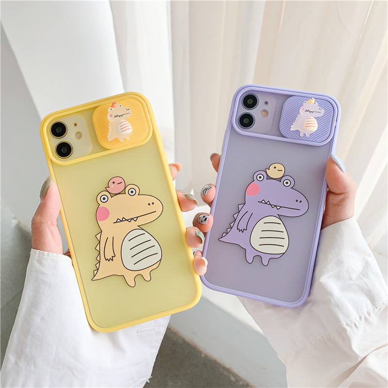 3D Cute Cartoon Camera Phone Case For Iphone 11 12 Pro Max 7 8 Plus XR X XS Max SE 2020 Cover Funny Cute Crocodile Soft Cases