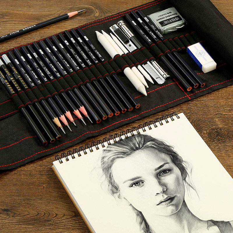 Sketch Pencil Set Charcoal Full Set Of Student Entry Tools Painting Professional Beginner Drawing Art Supplies
