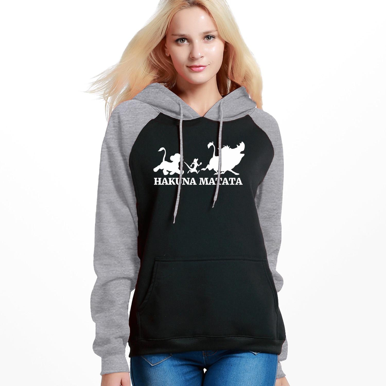 2019 Hot Sell New Women Hoodies Sweatshirts Hakuna Matata Print Casual Hooded Pullover Outerwear Winter Autumn Warm Sportswear