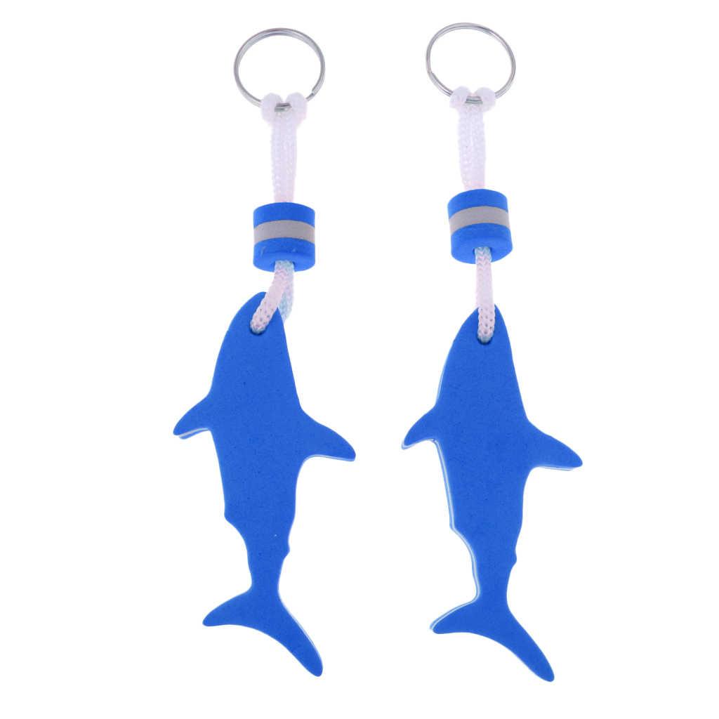 Bulk 2 Shark EVA Floating Keychain Keyring for Kayaking Beach Seaside Swim Fishing Drifting Sailing Rafting