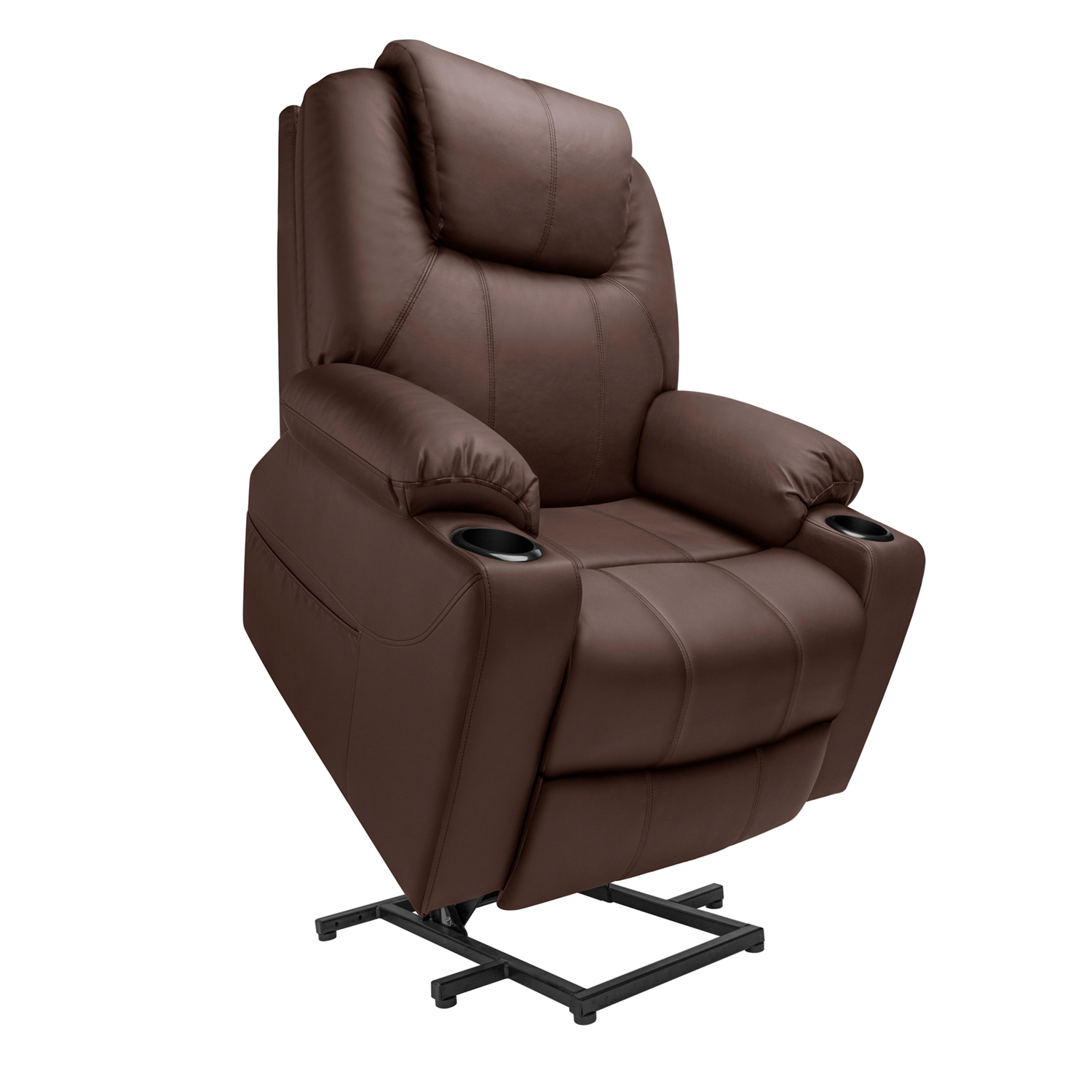 2021 Upgraded Electric Massage Chair Power Lift Recliner Chairs Leisure Soft Sofa Full Body Shiatsu Lounge Armchair for Elderly 7