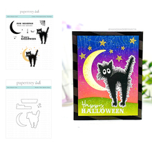 Halloween Boo Black Cat Metal Cutting Dies For 2021 New Scrapbooking Diary Decoration Embossing Template Greeting Card Handmade