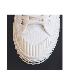 Image 5 - Vrouwen Canvas Schoenen 2019 Herfst Nieuwe Mode Sneakers Retro Schoenveter Trend Mode Ademend Platte Sneakers Casual Schoenen Vrouwen