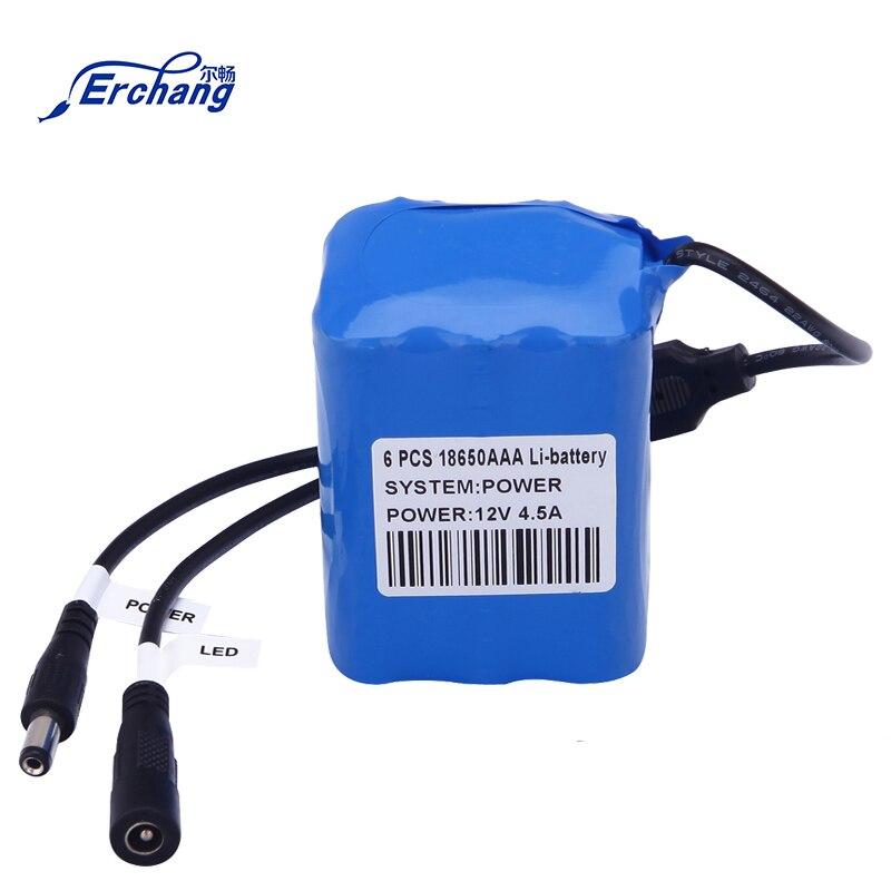 Erchang oryginalna profesjonalna bateria litowa 4500mAh pakiet dla lokalizator ryb podwodne wędkowanie kamera wideo 12V 4.5A