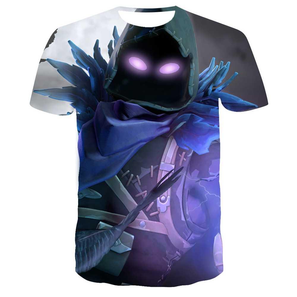 Nuova Maglietta di Estate Battle Royale di Gioco Delle Donne Degli Uomini di T-Shirt Del Fumetto Carino Tee Manica Corta 3D stampa fortniter Delle Magliette Dei Bambini