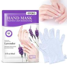 1pair Lavender Exfoliating Hand Mask Wax Peel Hand