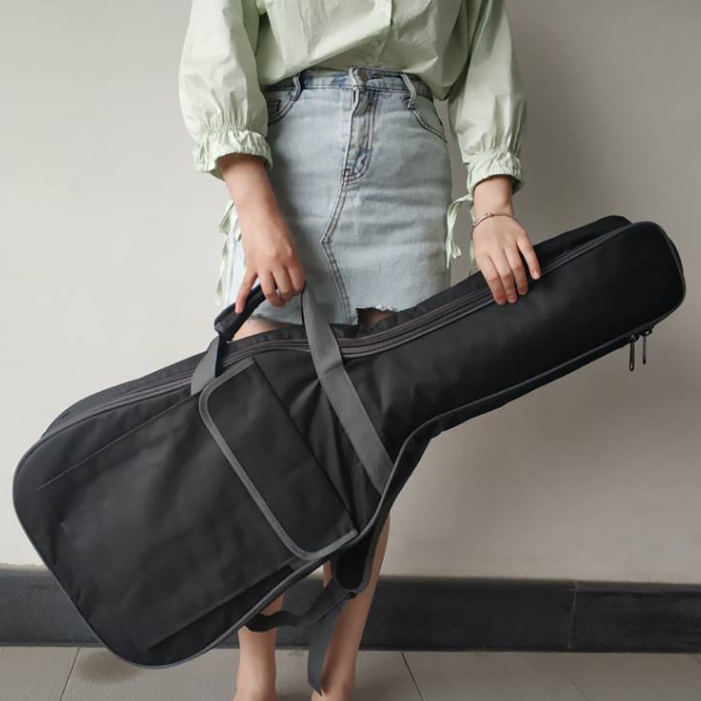 38 inch guitar bag folk song classical electric guitar universal black plus cotton bag image