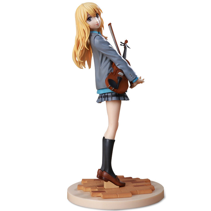 Anime Your Lie in April Gongyuan Xun  PVC Figure Newtoy doll  No Box 18cm