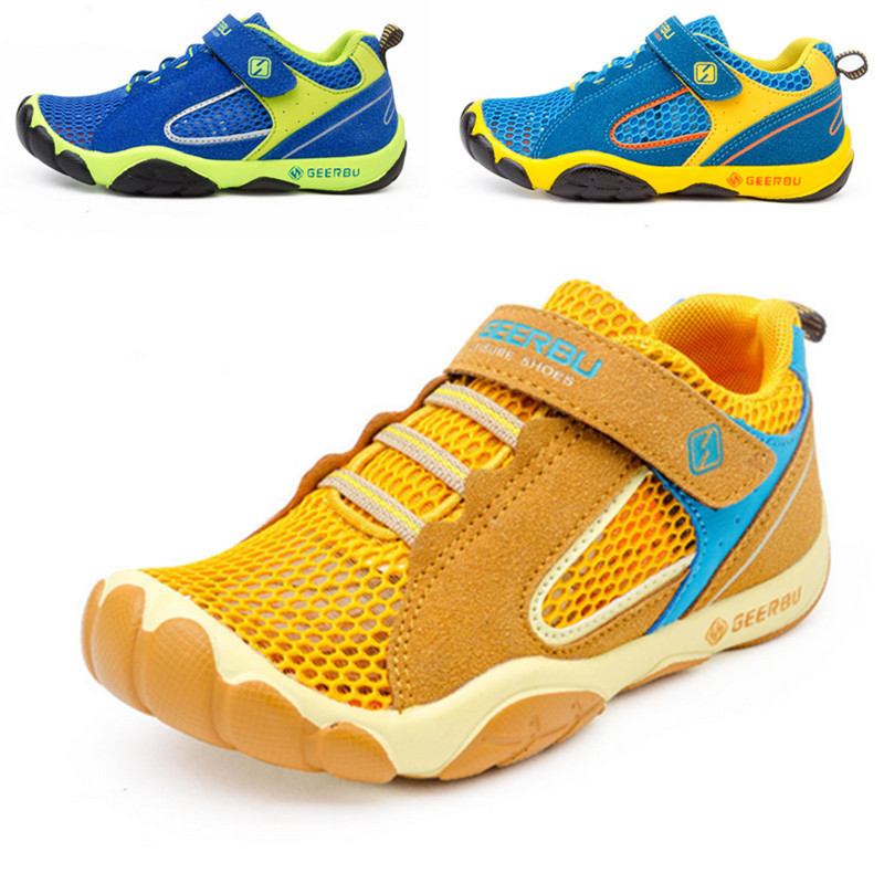 Summer Hiking Shoes Boys Outdoor Sneakers Kids Breathable Trekking Shoes Children Autumn Hiking Sandals Anti-skid Tenis Infantil