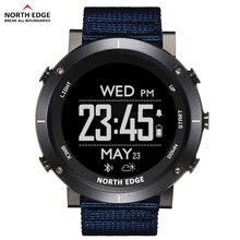 نورث ايدج الرجال الرياضة الساعات الرقمية مقاوم للماء 50 متر ساعة لتحديد المواقع الطقس مقياس الارتفاع مقياس الارتفاع البوصلة معدل ضربات القلب ساعة المشي لمسافات طويلة