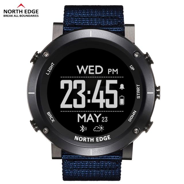 צפון קצה גברים ספורט דיגיטלי שעונים עמיד למים 50M שעון GPS מזג אוויר מד קצב לב טיולים שעון