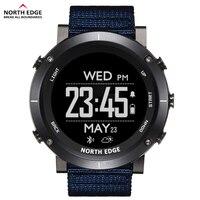North Edge 남자 스포츠 디지털 시계 방수 50M 시계 GPS 날씨 고도계 기압계 나침반 심장 박동 하이킹 시계|스마트 시계|가전제품 -