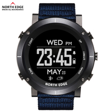 North Edge Men Sports Digital Watches Waterproof 50M Clock GPS Weather Altimeter Barometer Compass Heart Rate Hiking Watch