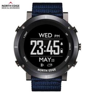 Image 1 - North Edge Men Sports Digital Watches Waterproof 50M Clock GPS Weather Altimeter Barometer Compass Heart Rate Hiking Watch
