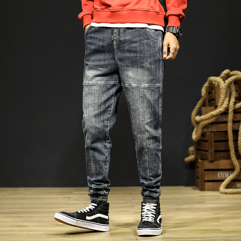 Mens Jeans Joggers Pants Fashion Desinger Baggy Tapered Loose-fit Streetwear Moto Jeans Casual Denim Jogger Pants Plus Size 42 12