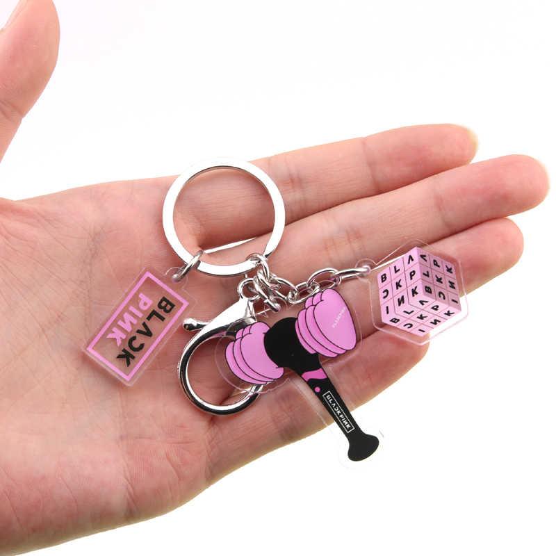 KPOP BLACKPINK EXO GOT7 ZWEIMAL SIEBZEHN Keychain Bangtan Boys Schlüssel Kette Zubehör Schlüssel Ring Nette Anhänger Keyring Geschenke