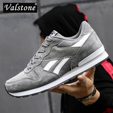 Valstone 2020 mens sneakers Split pig skin Breathable casual shoes waterproof outside walking shoes light weight trainers Blue