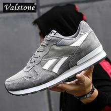 Valstone 2020 мужские кроссовки Разделение из свиной кожи; Дышащая повседневная обувь из водонепроницаемого материала; Снаружи прогулочная обувь светильник вес кроссовки синего цвета