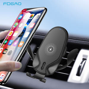 Wireless Car Charger 15W Qi Fast Charging Auto Clamping Car Mount Air Vent Phone Holder for iPhone 11 XS XR X 8 Samsung S10 S9