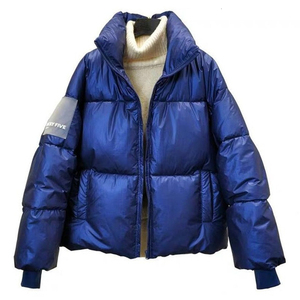 Image 2 - RICORIT Women Down Jacket Down Cotton Loose Clothes Down Coat Female White Duck Down Jacket Winter Waterproof Overcoat