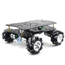 Double layer 4WD 80mm Mecanum Wheel RC Robot Car Chassis with DC 12V Encoder Motor for Arduino Raspberry Pi DIY Project STEM Toy недорого