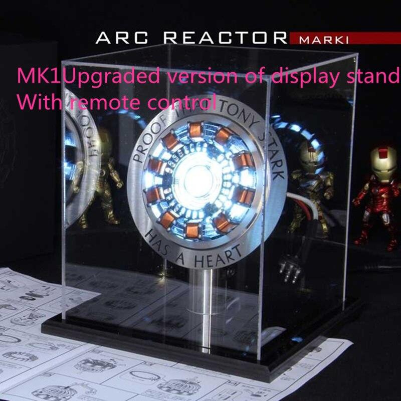 1:1 супер геромк1 дуговой реактор дистанционный светильник DIY части модель собранного ядра Дисплей Стенд (обновленная версия дисплея стенд) ...