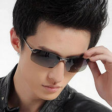 Мужские солнцезащитные очки без оправы uv400 поляризационные