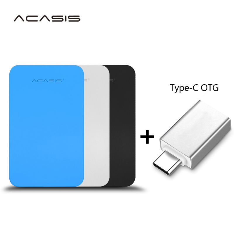 ACASIS Original 2 5inch  Portable External Hard Drive Disk  USB3 0 High Speed HDD for PC Mac Type-C interface Android mobile phone