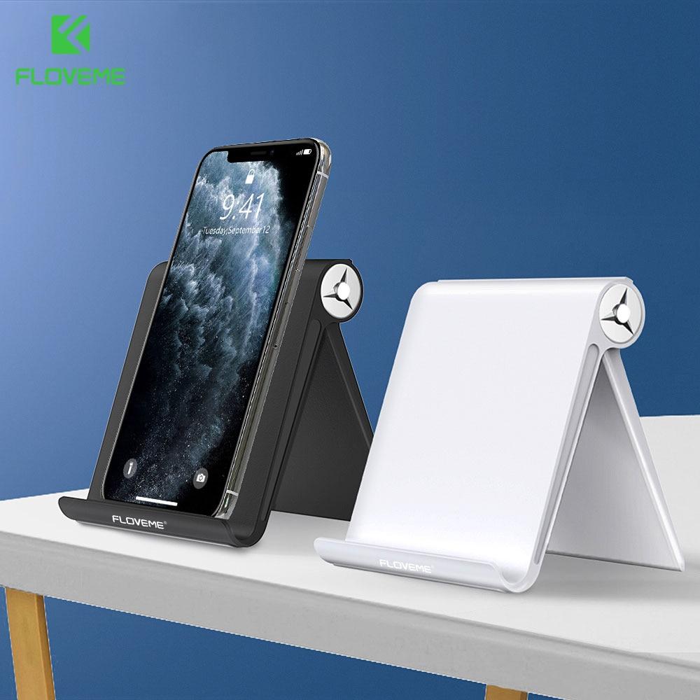 FLOVEME Phone Holder Stand For IPhone 11 Xr 8 7 Samsung S10 Adjustable Aluminium Desktop Holder Mobile Phone Tablet Stand Holder