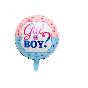 Image 3 - 65pcs/lot Gender Reveal Balloon Party Supplies 36 Inch Pink Gender Reveal Boy or Girl Banner Baby Shower Confetti Foil Balloon