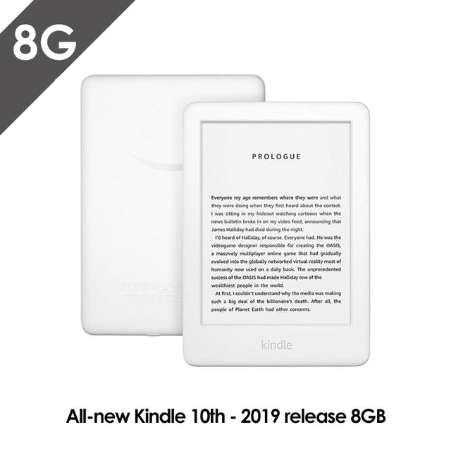 Все новые Kindle черный 2019 версия, теперь со встроенным спереди светильник Wi Fi 8GB для чтения электронных книг e ink экран 6 дюймовый Электронные книги