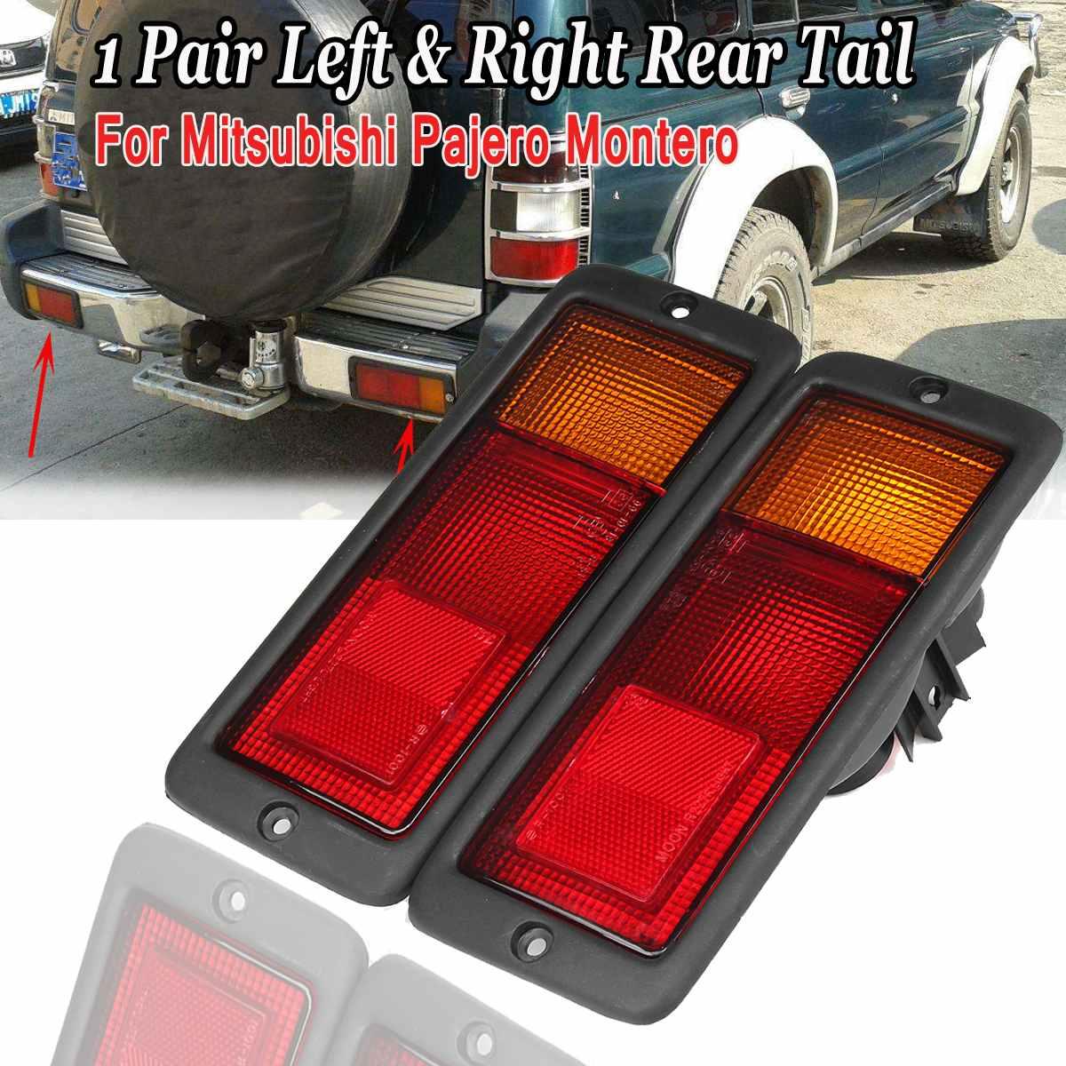 2X tylne światło samochodu światła halogenowe MB124963 MB124964 214-1946L-UE 2141946RUE dla Mitsubishi Pajero Montero 1992 - 1999