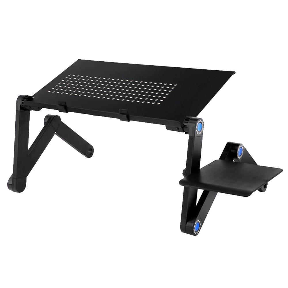 Adjustable Laptop Table Stand Folding Notebook Desk Stand Aluminum Alloy Notebook Desk Tablet With Dual Cooling Fan For Sofa Bed