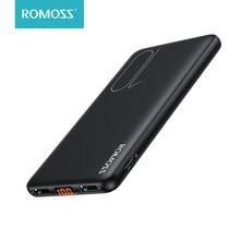 ROMOSS PSP10 внешний аккумулятор 10000 мАч тонкий портативный внешний аккумулятор 10000 мАч USB LED внешний аккумулятор зарядное устройство повербанк д...