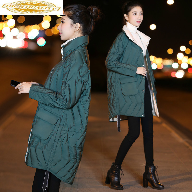 Winter Coat Women Down Coat Korean Two Side Wear Duck Down Jacket Women Puffer Jacket Warm Parka Casaco 9267- YY1507