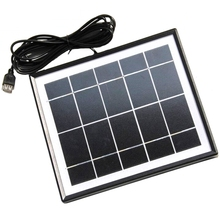 5.5W Solar Charger For Mobile Phones+Usb Output+Mono Panel Battery Power Station