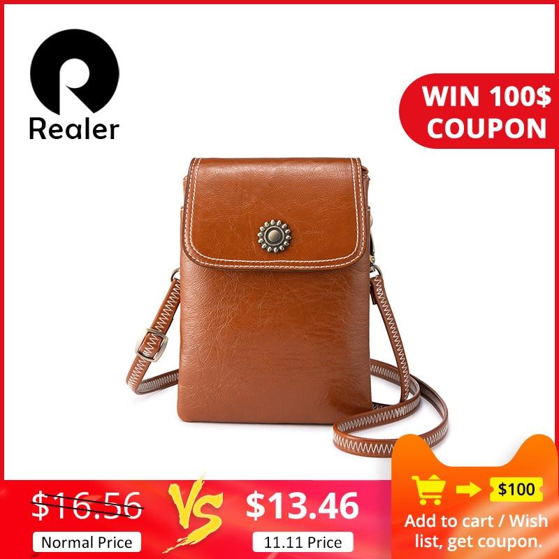 REALER Women Crossbody Bag Small Cell Phone Purse For Ladies Mini Shoulder Messenger Bag Female Crossbody Purse Phone Pouch