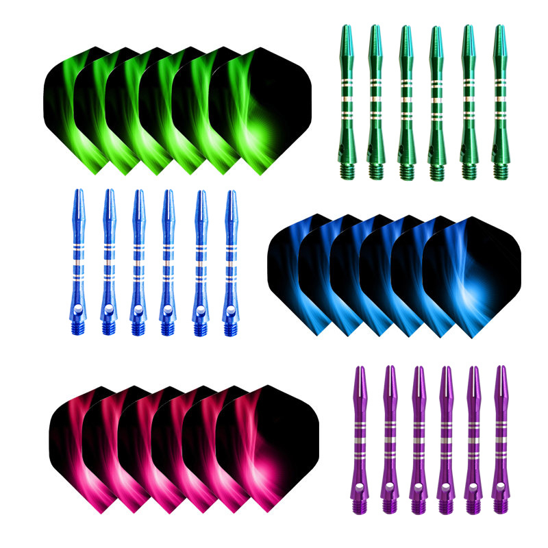 Aluminium Dart Shafts And Nice Pattern Darts Flights Dart Accessories For Professional Darts