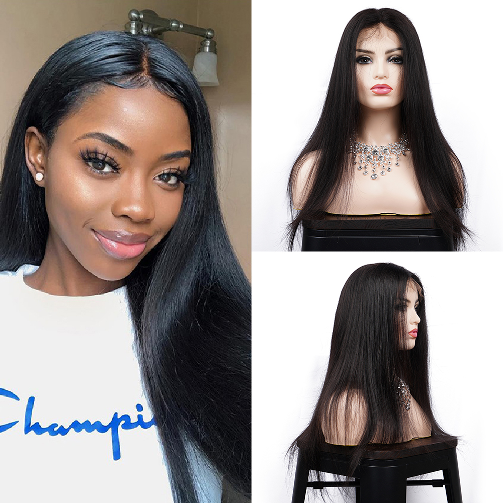 Straight Lace Front Human Hair Wigs Pre Plucked Hairline 150% 13x4 Lace Front Wig 10-26 Inch Brazilian Remy Hair Brenda Hair