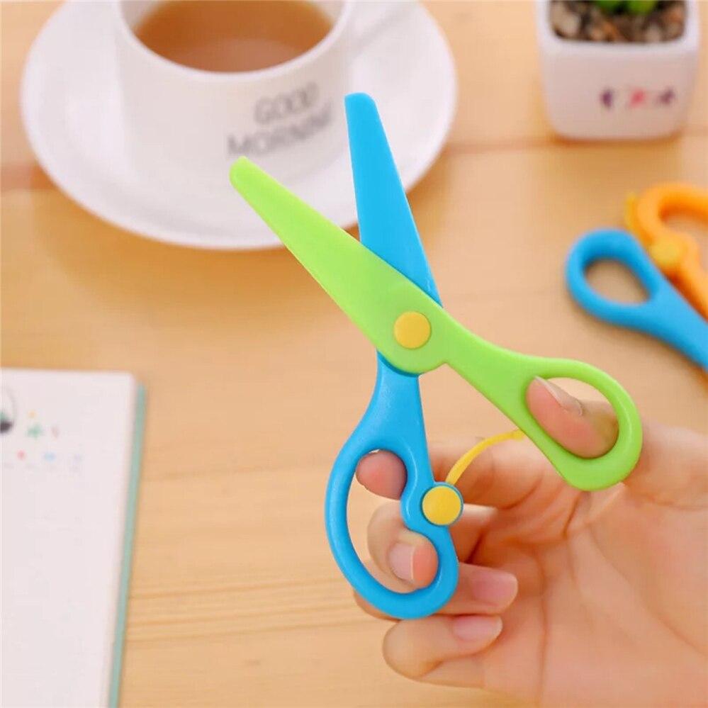 Safety Plastic Scissors Creative Elastic Kindergarten Children's DIY Small Round Head Paper Cutter