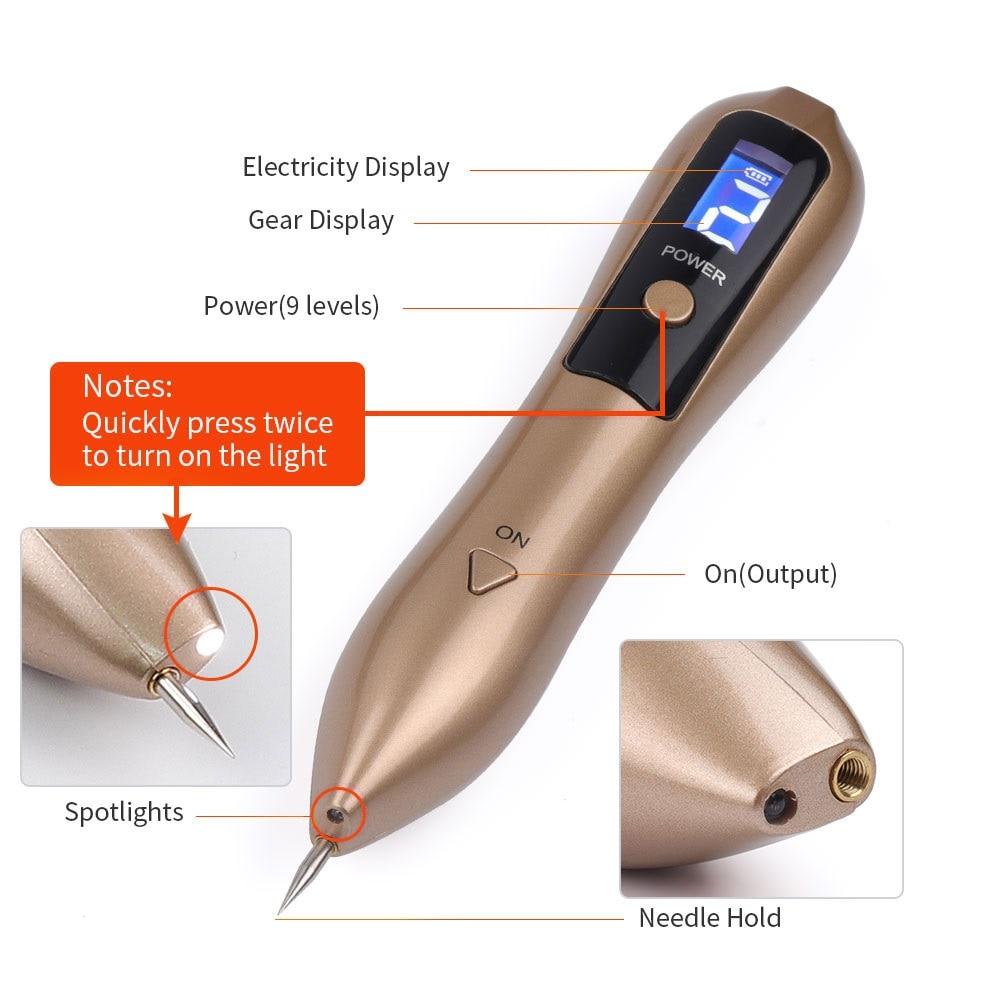 LCD plazma olovka LED osvjetljenje Lasersko uklanjanje tetovaža - Alat za njegu kože - Foto 6