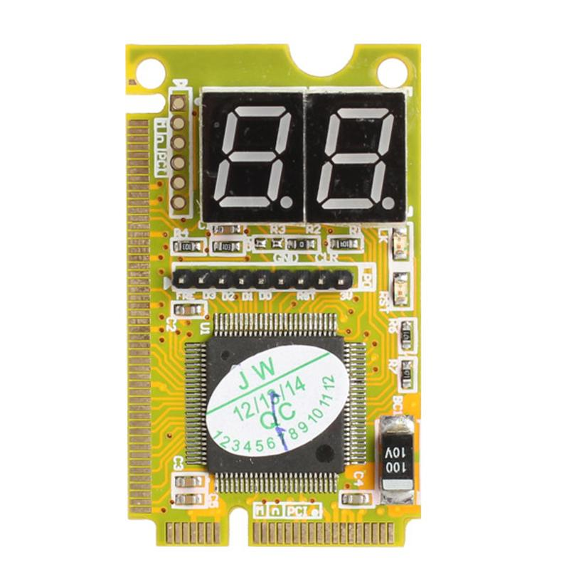 3-in-1 Mini PCI PCI-E LPC PC Analyzer Tester Notebook Combo Debug Card with 4-layers PCB Design LED-display