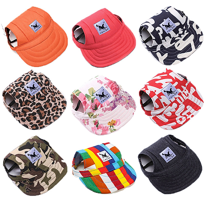 Pet Dog Hat Cap Fashion Baseball Hat For Dogs Cats Casual Canvas Puppy Cap For Small Dogs Hat Chihuahua Yorkshire Teddy 8 Colors
