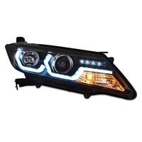 Car Headlights For Honda City 2015 2016 2017 LED DRL LED Head Lamp Angel Eyes Front Lights Bi Xenon HID H7 D2H lens
