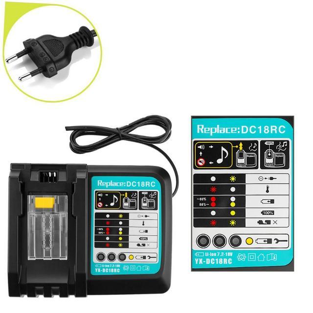 3.0A chargeur de batterie pour Makita 14.4V 18V BL1830 Bl1840 Bl1430 Bl1850 Bl1860 DC18RC DC18RF prise ue de haute qualité livraison gratuite