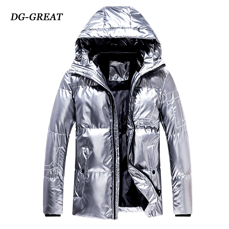 Winter 2019 New Hooded Polished Cotton-padded Jacket Korean Version Slimming Trend Men's Cotton-padded Jacket Down Jacket