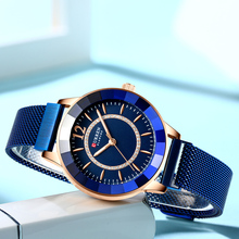 CURREN New Rhinestone Fashion Quartz Mesh Steel Watch