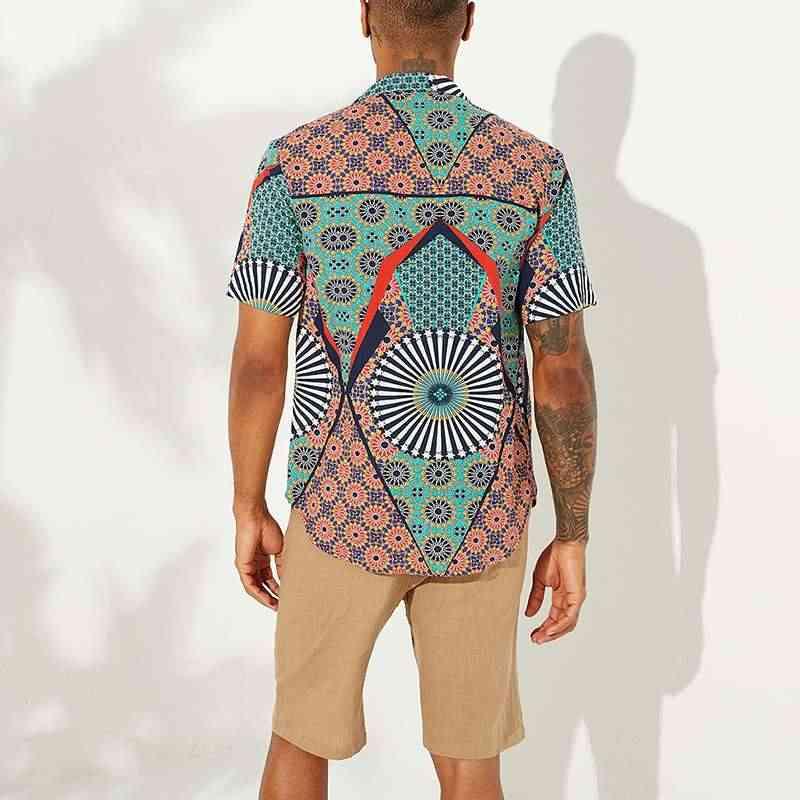 2020 Sommer Männer Gedruckt Hawaiian Shirt Kurzarm Strand Lose Urlaub Marke Streetwear Atmungs Männer Shirts Camisa Masculina